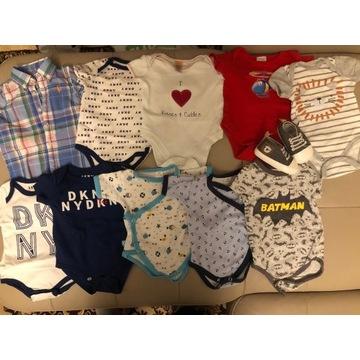 Zestaw ubranek niemowlęcych 62/68 + gratisy