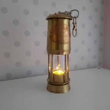 LAMPA ŚWIECZNIK MARYNISTYCZNY ANTYK 1920 ROK !