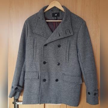 H&M - zimowy płaszcz męski w rozmiarze 48 (M)