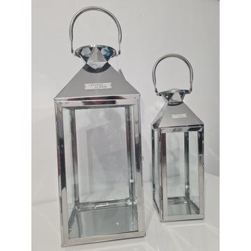 Zestaw metalowych lampionów