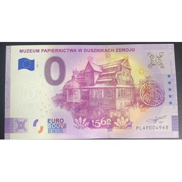 0 euro Muzeum papiernictwa Duszniki anniversary
