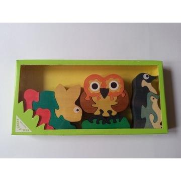 Drewniana układanka puzzle - zakup wspiera zbiórkę