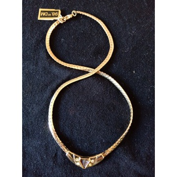 Naszyjnik - imitacja złota - 42 cm - delikatny
