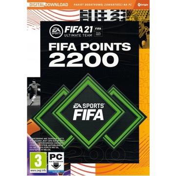 FIFA 21 2200 FUT POINTS ULTIMATE TEAM KLUCZ PC