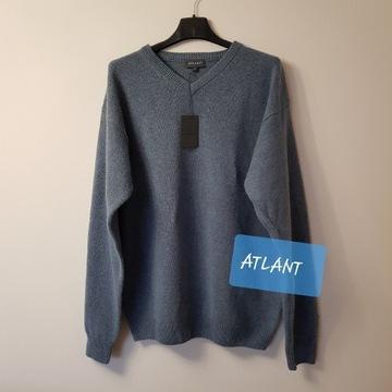 Sweter męski ATLANT r.XL wełna. NOWY