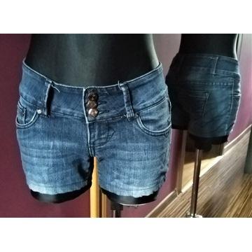 Krótkie jeansowe spodenki MissOne, S, 95% bawełna