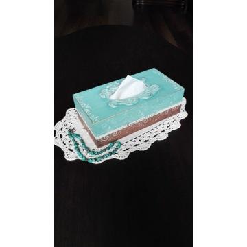 Hustecznik,pudełko na husteczki, handmade,prezent