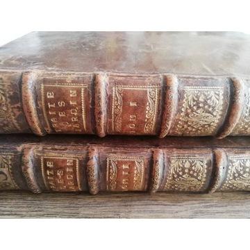 Starodruk 1739 Traktat o ogrodach