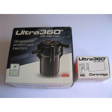 Nowy filtr LPG Ultra 360 + zapasowy wkład.
