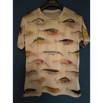 Koszulka z nadrukiem woblerów Rapala