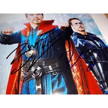 Autografy Robert Downey Jr i Benedict Cumberbatch