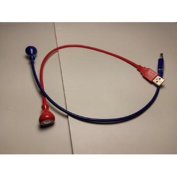 Granatowa lampka USB