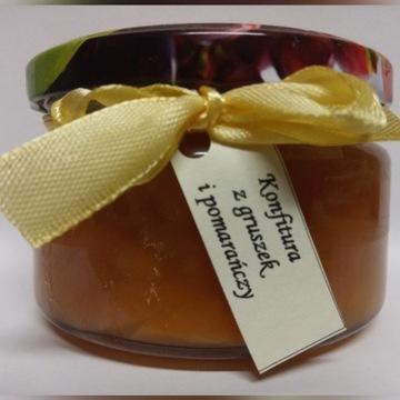 Domowa konfitura z gruszek i pomarańczy 200 ml