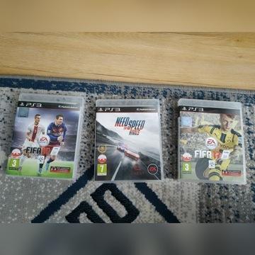 3 GRY pod PS3 : FIFA 16 i 17 , NFS Rivals