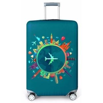 Elastyczny pokrowiec na walizkę XL