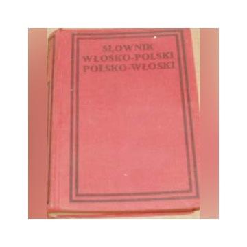 Słownik włosko polski polsko włoski Starodruk 1913