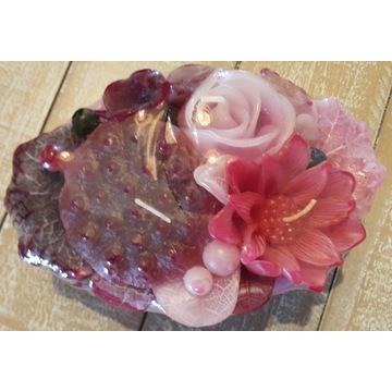 Świeca Kwiaty Kwiat lotosu dekoracje stołu
