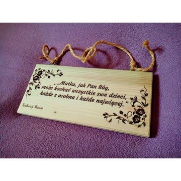 Dzień Mamy - prezent dla mamy. Drewniana tabliczka