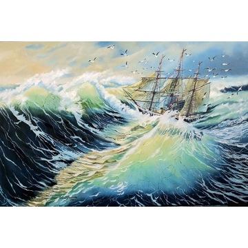 """""""Na morzu"""" -  Obraz olejny"""