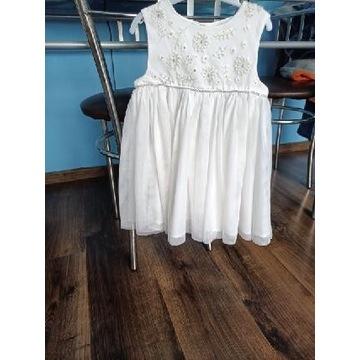 Sukienka biała okazyjna rozmiar 92