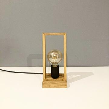 Lampka drewniana RAMKA MAŁA-stołowa