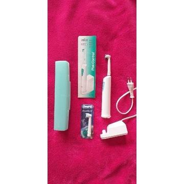 Nowa elektryczna szczoteczka do zębów + etui+zapas