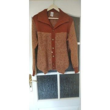 Sprzedam 2 ciepłe, grube beżowo - rude swetry męsk
