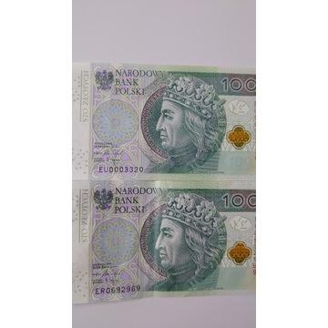 Banknoty 100zl,50zl,10zl dużo seria666,radar,AB,YL