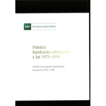 ALBUM NBP POLSKIE BANKNOTY OBIEGOWE PRL 1975-1996