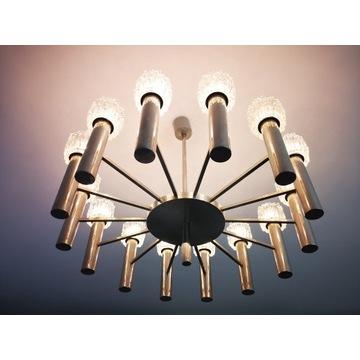 Mid century unikalna ogromna lampa art deco