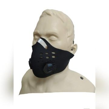Maska sportowa - treningowa + 2 wkłady