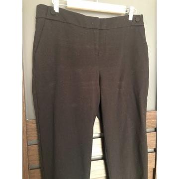 ORSAY czarne spodnie damskie proste nogawki r.42