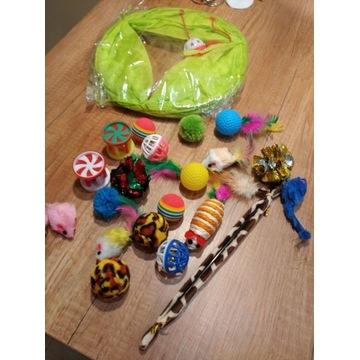 Zestaw Zabawek Dla Kota 21 elementów z tunełem