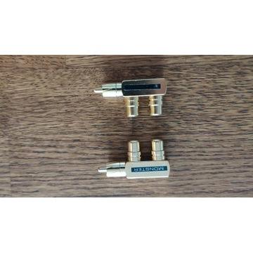 Rozdzielacz splitter RCA pozłacany x 2 sztuki