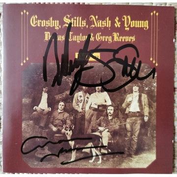 CSNY - Deja Vu płyta CD z autografami