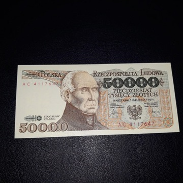 50000 zł UNC