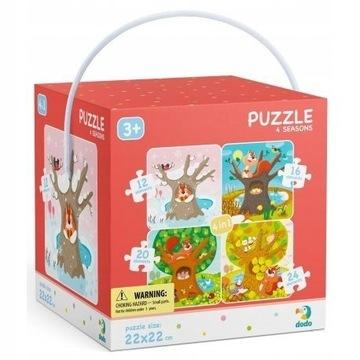 Dodo puzzle, 4 pory roku, 4w1 72 elementy