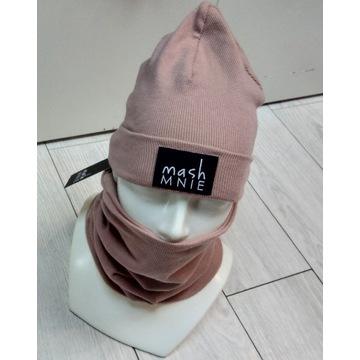 komplet mashmnie czapka + komin