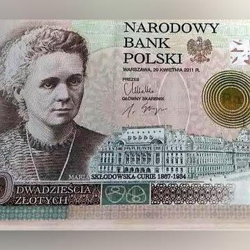 Banknot NBP 20 zł Maria Skłodowska Curie