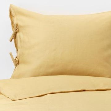 Pościel lniana 100% Puderviva 150/200 ,żółta