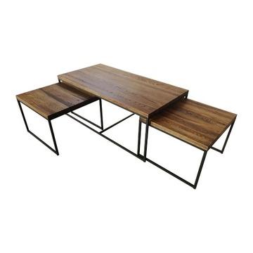 Zestaw trzech stolików Vintage - KLER!