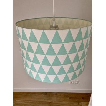 Lampa sufitowa trójkąty turkusowe