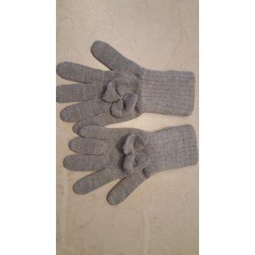 Rękawiczki zimowe dziewczęce szare. Wójcik. r.110