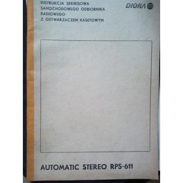 Instrukcja serwisowa Unitra RPS-611 + wkładki