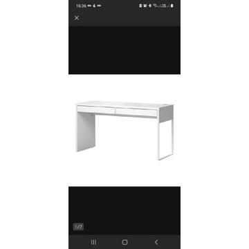 IKEA nowoczesne duże biurko MICKE 142x50x75