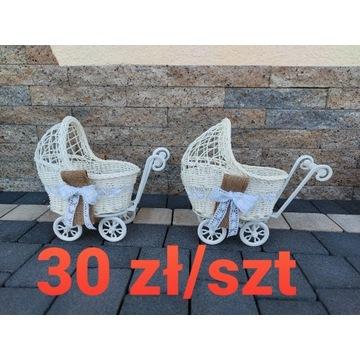Rustykalne wózki wózeczki oczepinowe na oczepiny