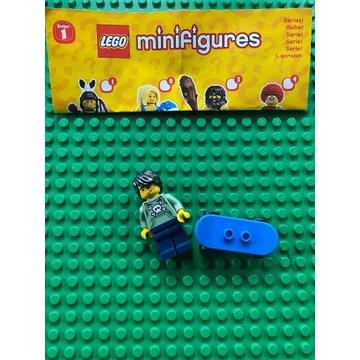 Lego Minifigures seria 1 8683 skater deskorolka