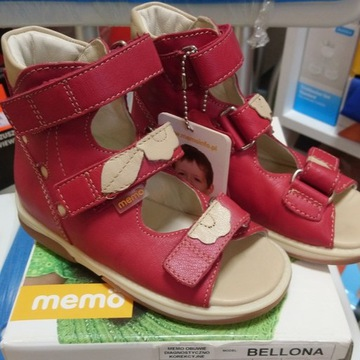 Buty sandałki Memo Bellona  r.26 czerwone wysokie