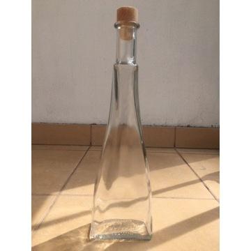 Butelka Szklana Gięta z Korkiem
