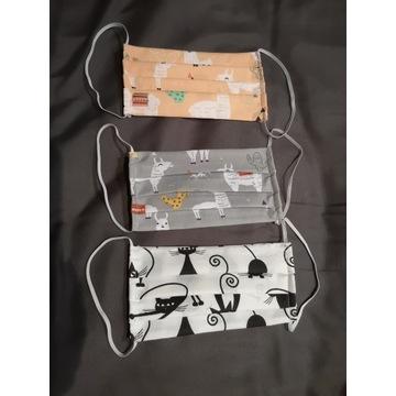 maseczka bawełniana wielokrotnego użycia 2 warstwy